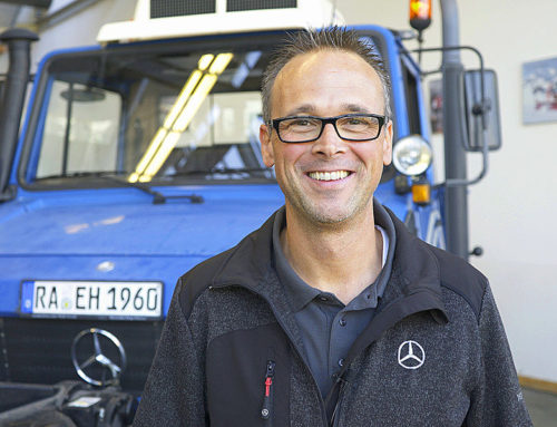 Steering conversion for Unimog using genuine Mercedes-Benz parts.